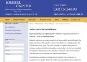 Newark Mesothelioma Lawyers - Kimmel, Carter, Roman & Peltz, P.A.