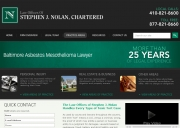 Baltimore Mesothelioma Lawyers - Law Offices of Stephen J. Nolan, Chartered